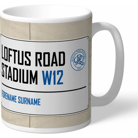 Personalised Queens Park Rangers FC Street Sign Mug