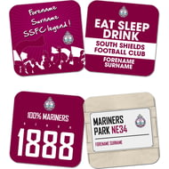 Personalised South Shields FC Coasters
