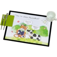 Personalised Time For Dinner Teddy - Laminate Mat