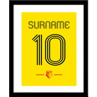 Personalised Watford Retro Shirt Framed Print
