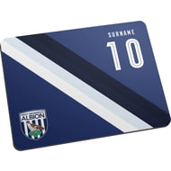 Personalised West Bromwich Albion FC Stripe Mouse Mat