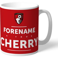 Personalised AFC Bournemouth True Cherry Mug