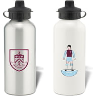 Personalised Burnley FC Player Figure Aluminium Sports Water Bottle