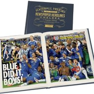 Personalised Chelsea Football Newspaper Book - A3 Leather Cover