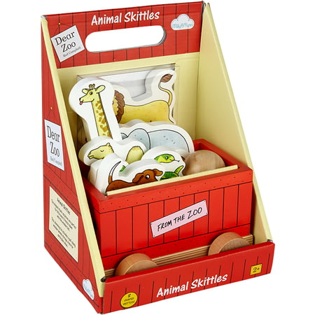 Personalised Dear Zoo Animals Wooden Skittles Set