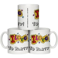 "Personalised ""Funky Love"" Design Personalised Ceramic Mug"