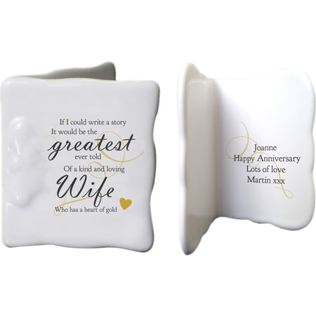 Personalised Greatest Story Ceramic Message Card