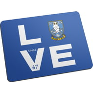 Personalised Sheffield Wednesday Love Mouse Mat